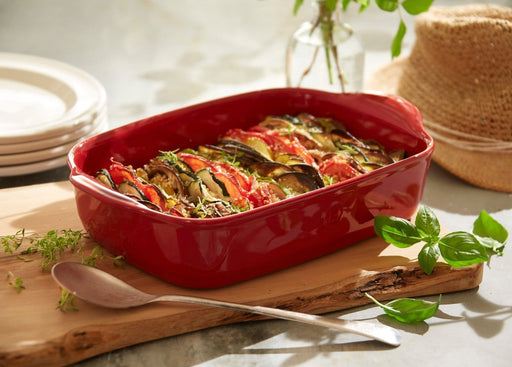 Pyrex CU23RR5 Curves Red Ceramic Rectangular Roaster exxab.com