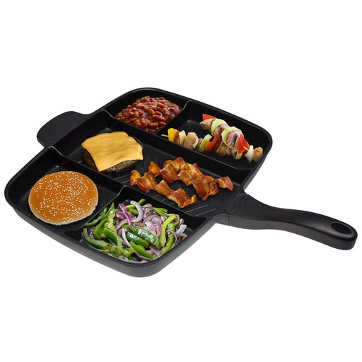 Master pan 5 in 1 non-stick divided Grill/Fry/Oven Meal Skillet. exxab.com