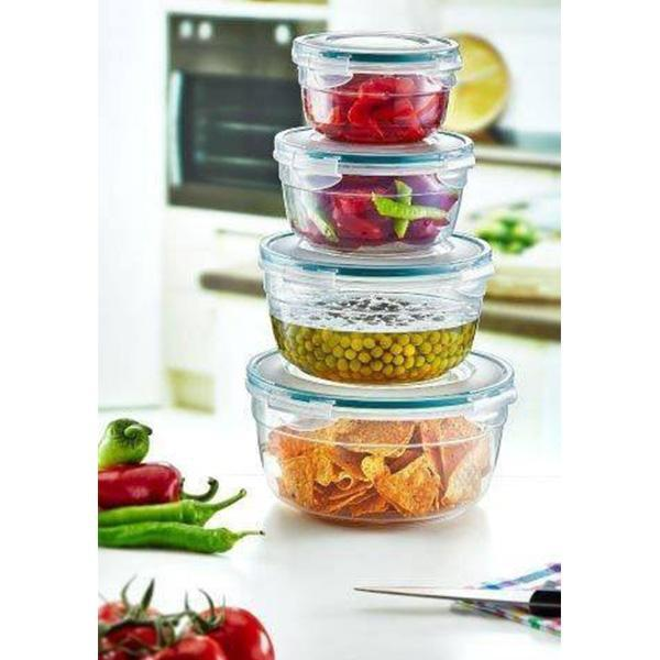 Irak LC-330 set of 4 plastic round food storage containers exxab.com