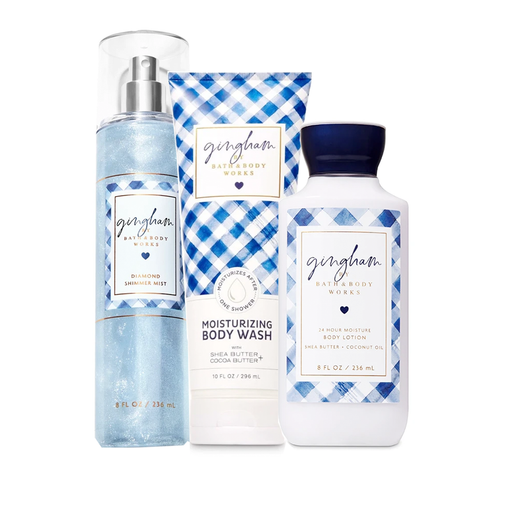 Bath & Body Works Gingham Set of 3 Pieces exxab.com