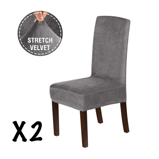 Velvet Dining Room Chair Cover Set of 2 Pcs exxab.com