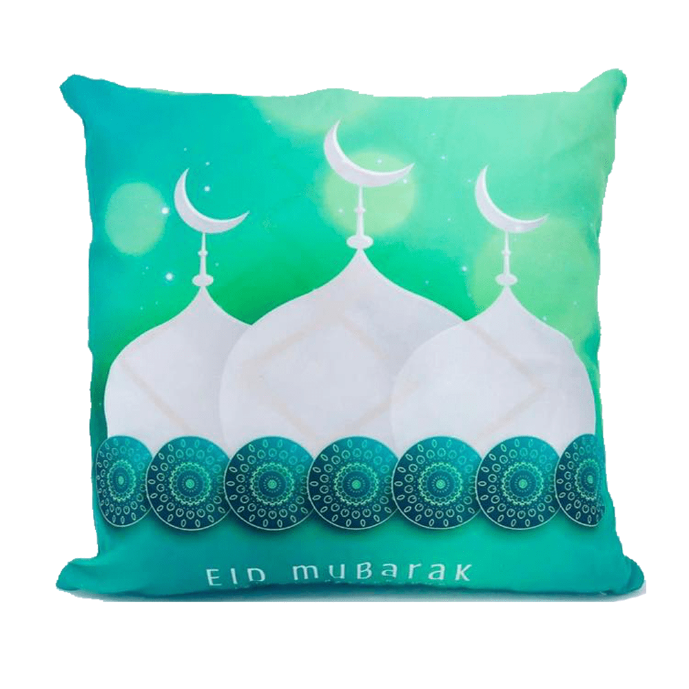 Eid Mubarak cushion decorative with mosque pattern design exxab.com