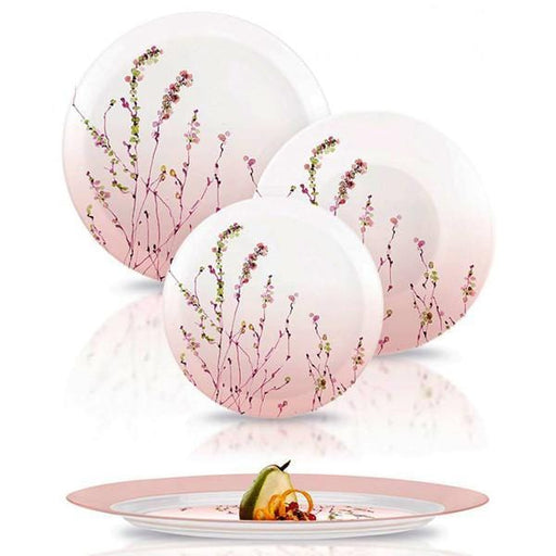 Luminarc N2141 Temp amb trompette rose dinner set plates 19 pcs exxab.com