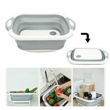 3 in1 Chopping Board, Washing Bowl, Fruit Vegetable Basket exxab.com