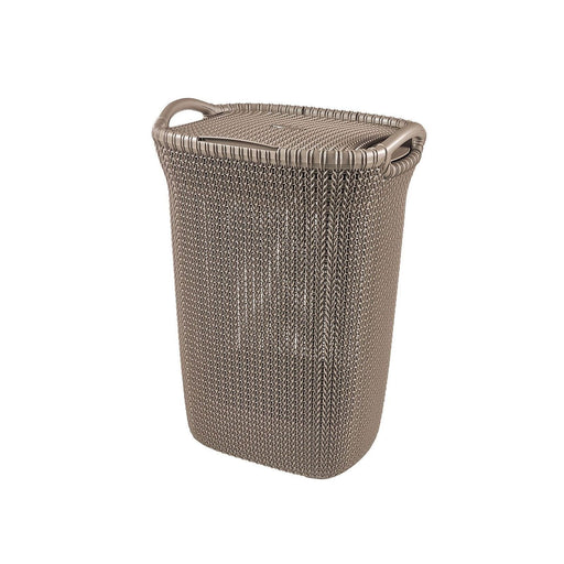 Curver knit laundry hamper 57L Brown 3676