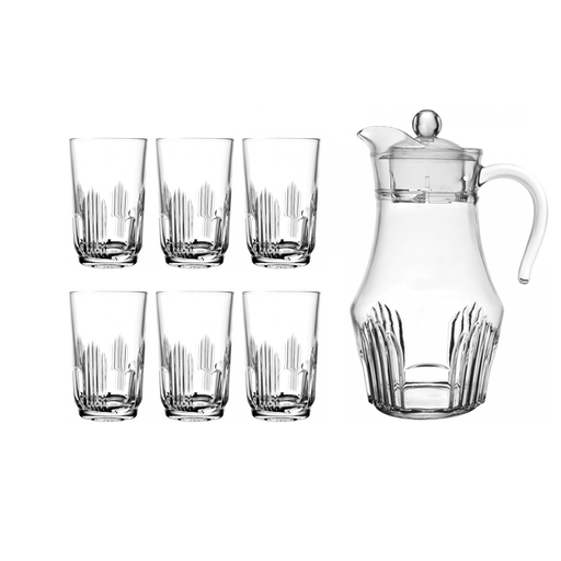 Luminarc L4985 lancier, water set of 7pcs water (Water jug & 6 cups) exxab.com
