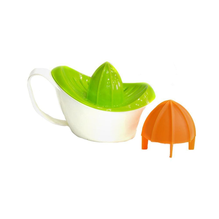 Manual plastic lemon squeezer with juice container - exxab.com
