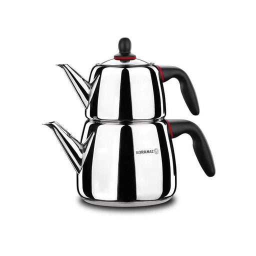 Korkmaz Tea Pot Set 2 Pcs Gusto exxab.com