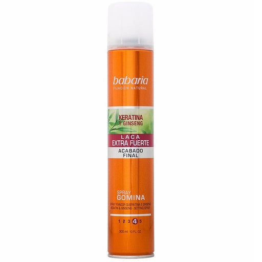 Babaria Spray Gum, Extra Strong Lacquer, Keratin and Ginseng exxab.com