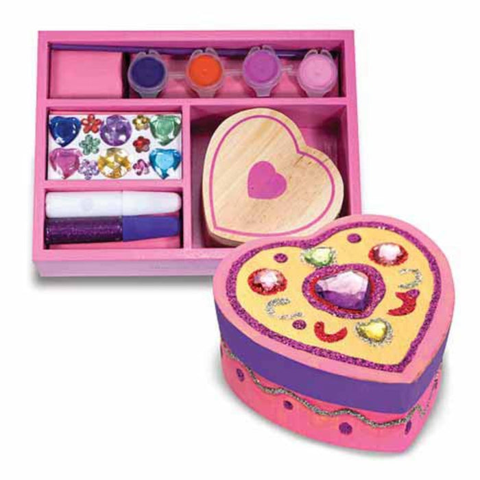 Melissa A Doug 8850 Heart Chest with  glitter and craft glue exxab.com