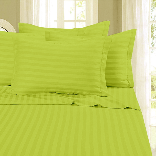 Cotton 100% Striped 300T Single Bed Cover Set exxab.com