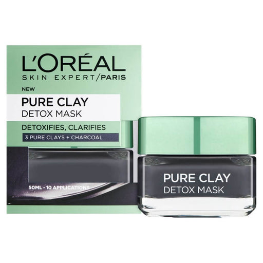 L'oreal Paris Pure-Clay Face Mask With Charcoal For Dull Skin exxab.com