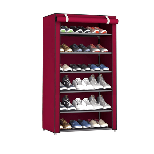 Generic Shoes Rack With Fabric Cover 6 Lyers exxab.com