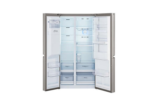 LG GCJ-267PHL Side By Side Refrigerators.26CFT,Water Dispe,Shiny Steel,Touch, LE