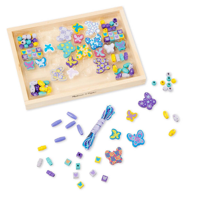Melissa A Doug 4179 Butterfly Friends Bead set & wooden tray exxab.com