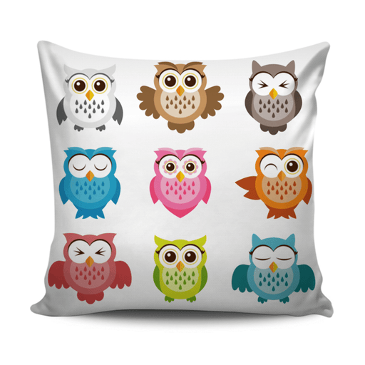 Home decoration cushion with coloful Owl pattern exxab.com