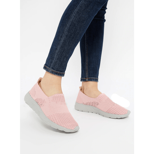 The Women's breathable flat pink sneakers with casual style, Size 37 - exxab.com