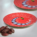 Ramadan decoration small paper plates with crescent pattern exxab.com