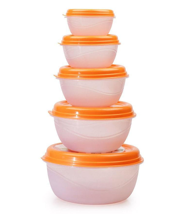 Princeware 5667/7 Combo round food storage containers, set of 5 pcs exxab.com
