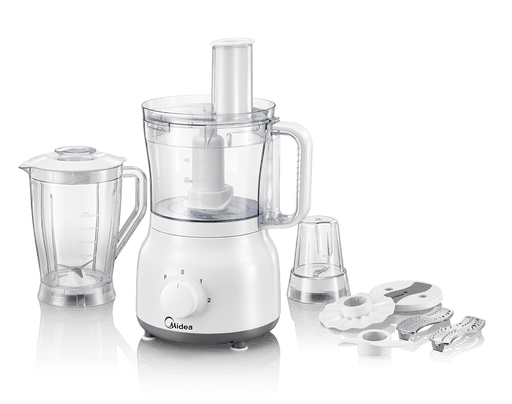 Midea MJ-FP60D1 White stand mixer & food processor with grinder 600 watt exxab.com
