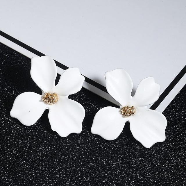 Cute Flower Stud Earrings For Women New Fashion Sweet Earrings Jewelry exxab.com