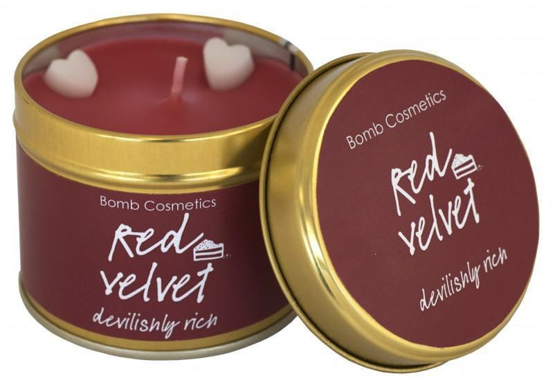 Red Velvet Tin Candle exxab.com