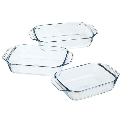 Pyrex 912S734 Irresistible Set of 3 Rectangular Dish Gift Box exxab.com