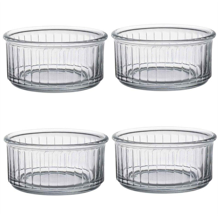 Duralex glass ramekin 5010A polygon glass bowls for multi uses 4 Pcs. exxab.com