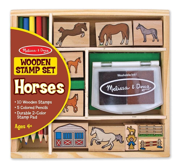 Melissa A Doug 2410 Horse Stamp set with 6 horse stamps exxab.com