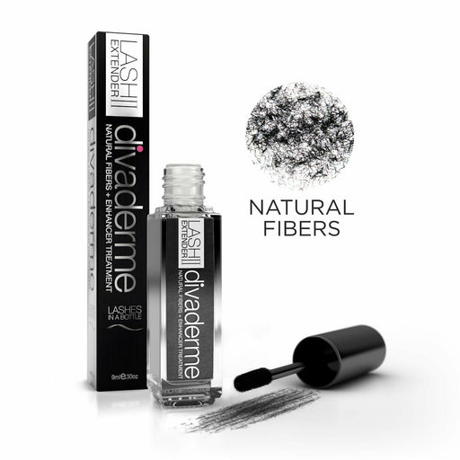 Divaderme Lash Extender II - 100% Natural Eyelash Fibers + Enhancer Treatment exxab.com