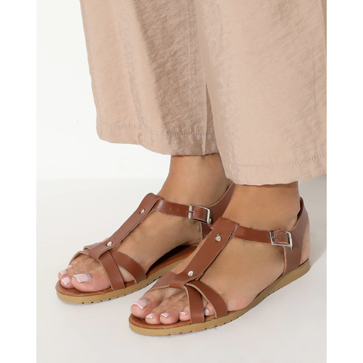 Women's Brown Summrey revealing sandals exxab.com