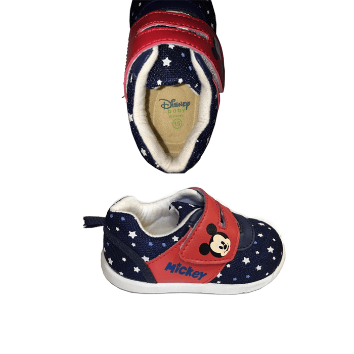 1 Pair Disney Baby's shoes with Mickey's print one size. - exxab.com