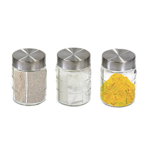 Glass Spices Jars With Lids Set Of 3 Pieces exxab.com