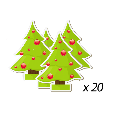 Christmas Tree Stickers 20 Pieces exxab.com