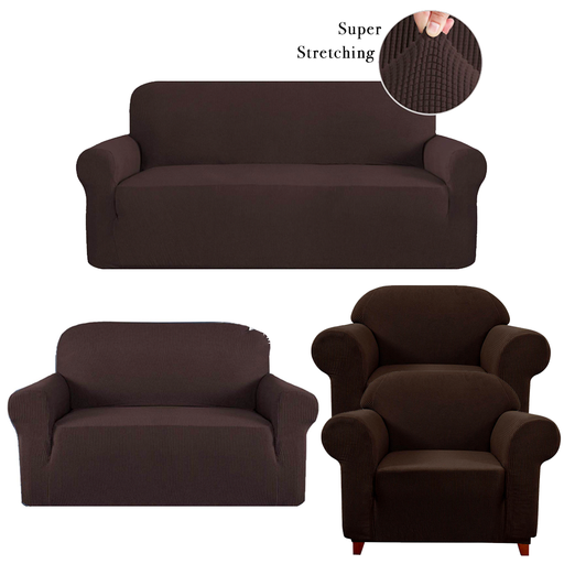 High Quality Stretch Sofa Covers, Set Of 4 Seaters exxab.com