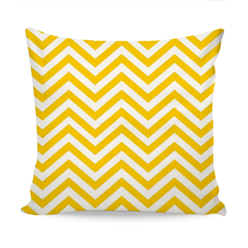 Home Decor Cushion With Yellow Chevron Design exxab.com