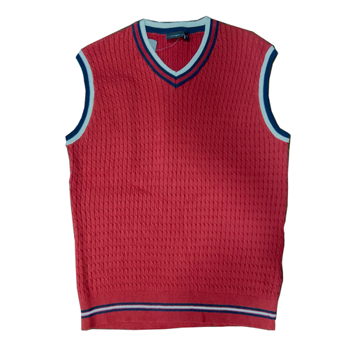 Men's Textured Sweater Vest with V Neck exxab.com
