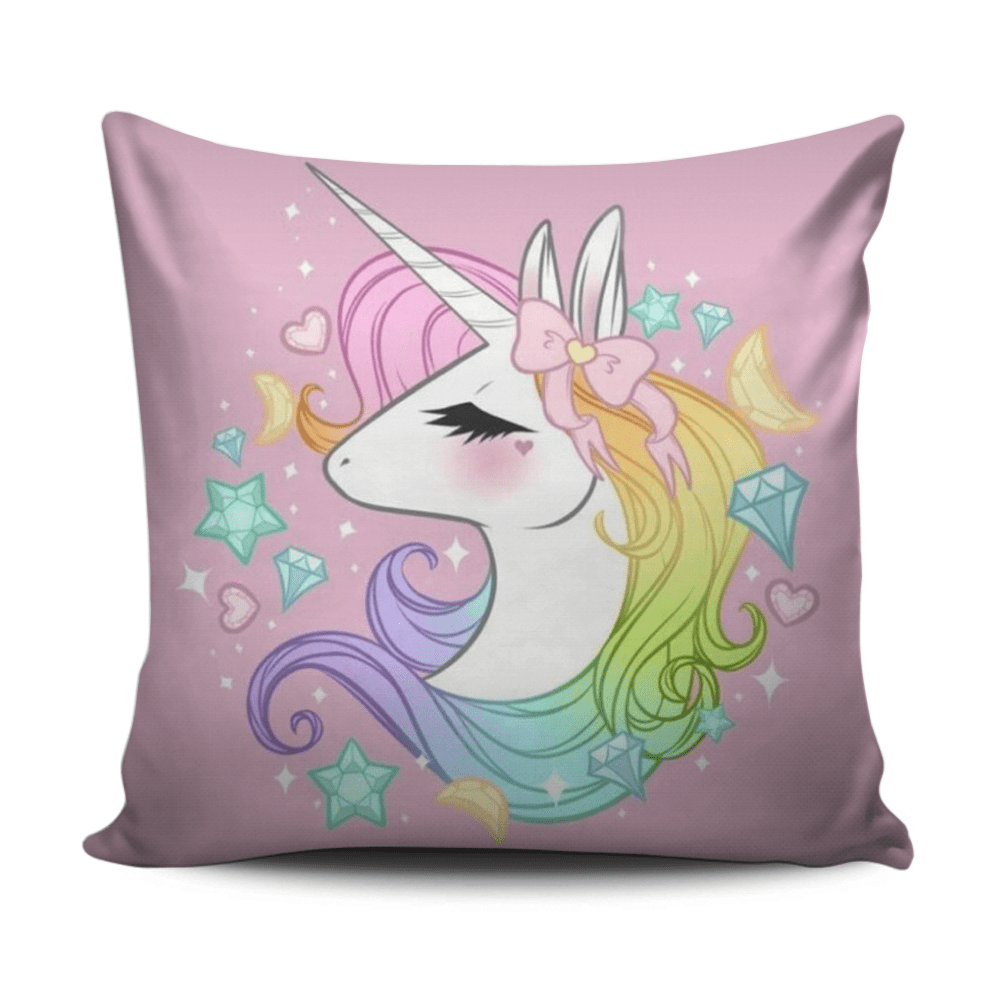 Home decoration cushion with coloful Unicorn pattern exxab.com