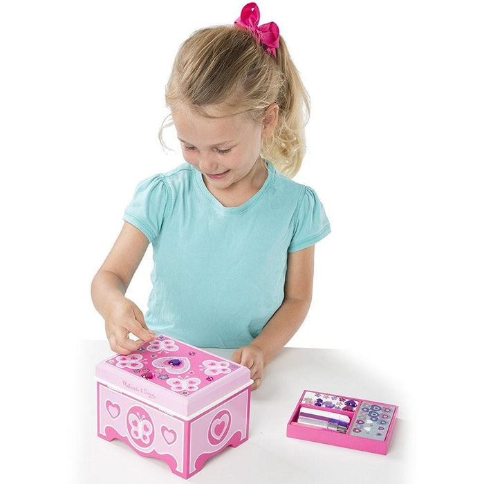 Melissa A Doug 8861 Jewel Box with glitter sticker exxab.com