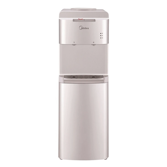 Midea YL1536S Water dispenser with two water faucets, silver color exxab.com
