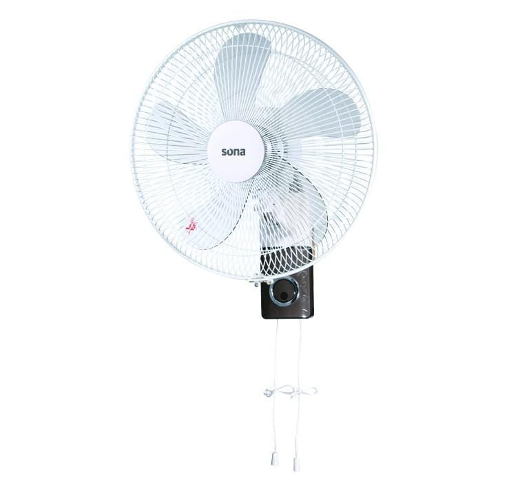Sona WF-4023 electric wall mount Fan 16 inch with pull cord