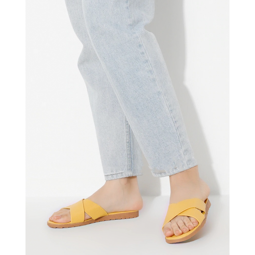 Yellow Women's Summery Slippers exxab.com