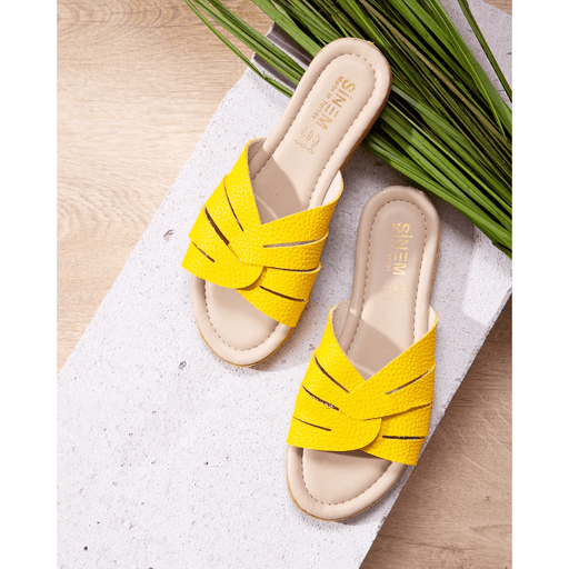 Yellow Women's Summery Slippers, size 37 exxab.com
