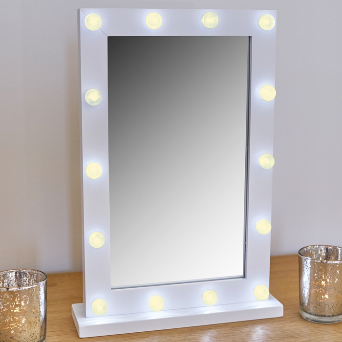 Makeup Mirror With Small Led Lights exxab.com