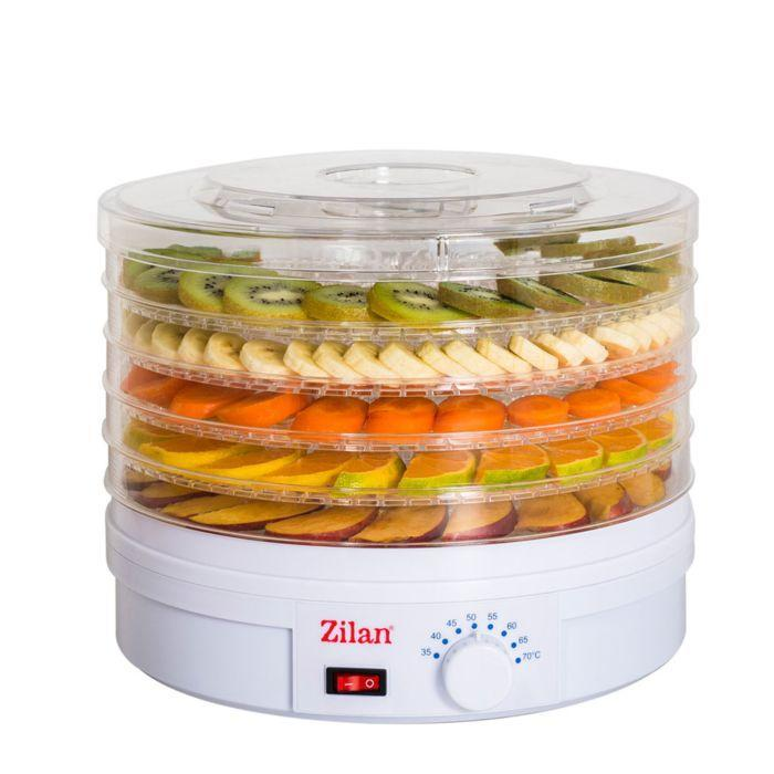 Zilan 9645 Electric food dehydrator 5 stackable trays for fruit, vegetable & herbs exxab.com