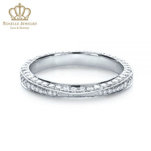 Charlisa™ Bright Cut Diamond Eternity Band Wedding Rings - WC001