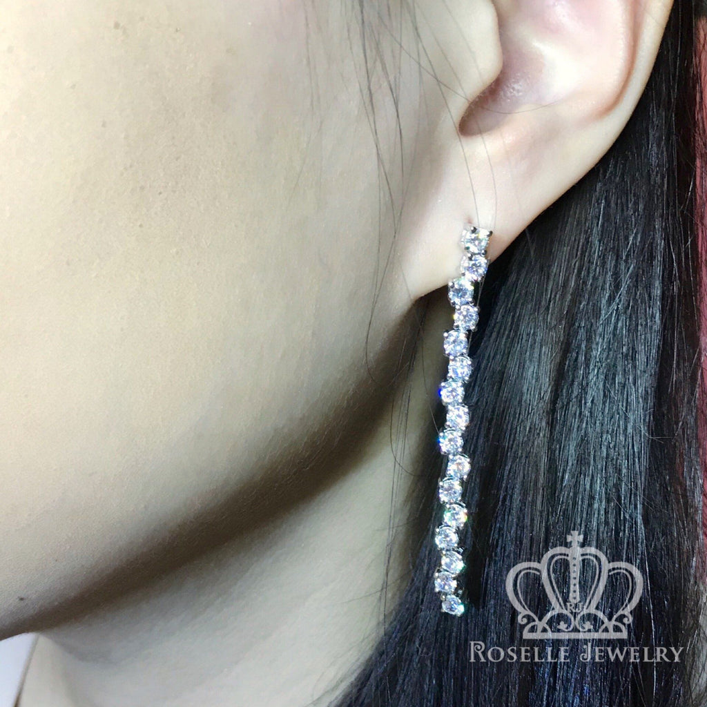 Cascade Drop Earrings - VE4 - Roselle Jewelry