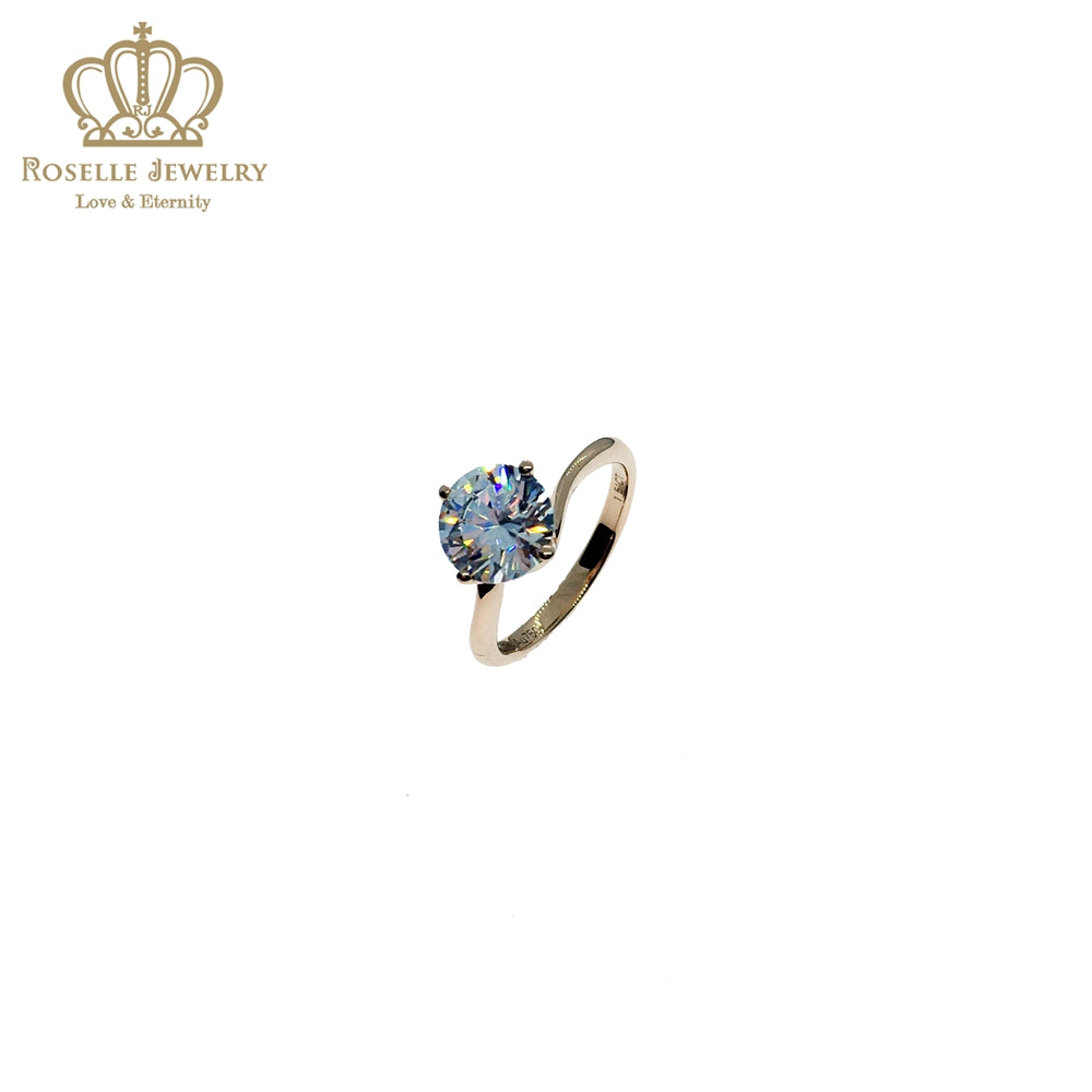 Four Prong Twist Solitaire Engagement Ring - NT11 - Roselle Jewelry