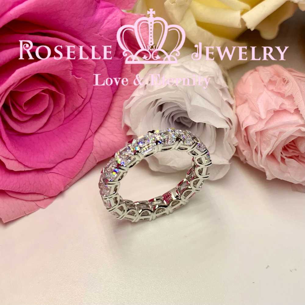Asscher Cut Eternity Wedding Ring - BH5 - Roselle Jewelry