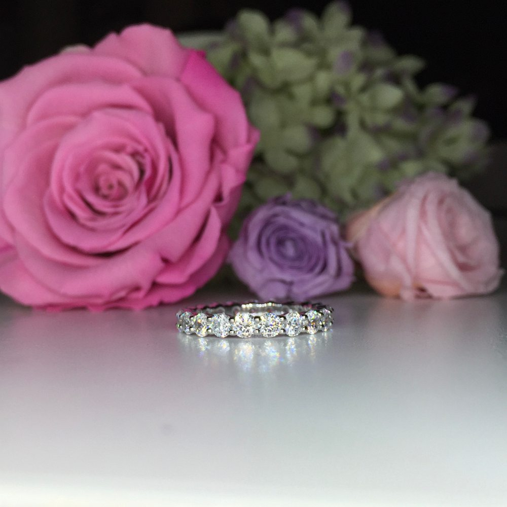 0.10CT EACH Eternity Wedding Ring - BA4 - Roselle Jewelry